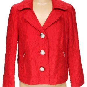 RQT light quilted spring fall red jacket